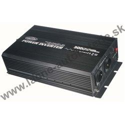 Menič napätia z 12 / 230V, USB, 3000W