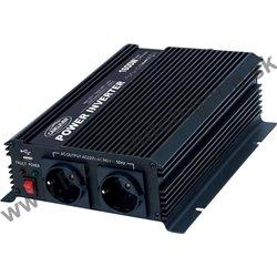 Menič napätia z 24 / 230V + USB, 1600W