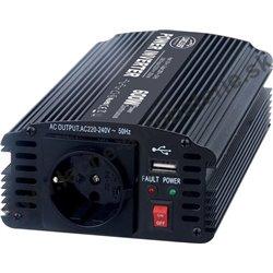Menič napätia z 24 / 230V + USB, 600W