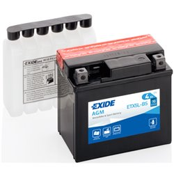 EXIDE BIKE AGM ETX5L-BS 4Ah 70A 12V