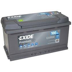 Exide Premium 100 Ah EA1000 12V 900A